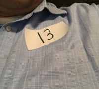 Audition night. My lucky number.